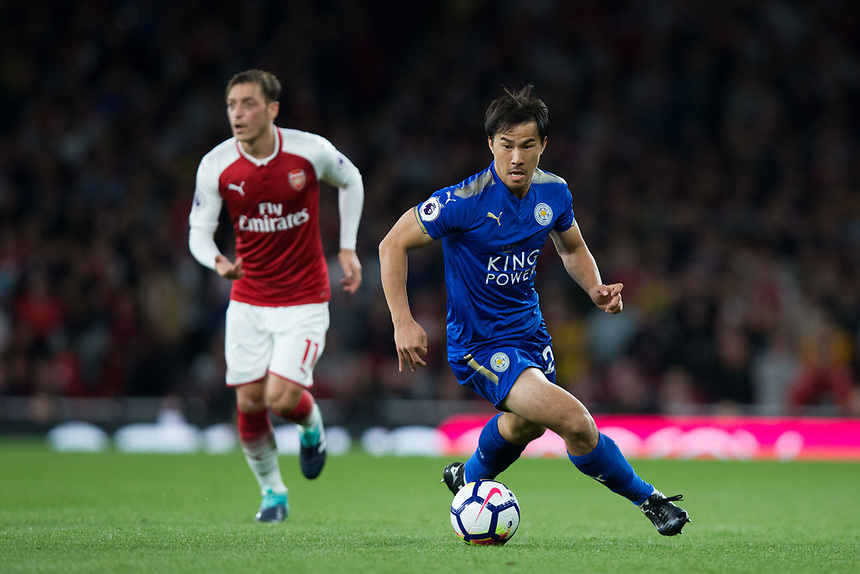 Leicester City's Shinji Okazaki in action<br /> <br /> Photographer Craig Mercer/CameraSport<br /> <br /> The Premier League - Arsenal v Leicester City - Friday 11th August 2017 - Emirates Stadium - London<br /> <br /> World Copyright &copy; 2017 CameraSport. All rights reserved. 43 Linden Ave. Countesthorpe. Leicester. England. LE8 5PG - Tel: +44 (0) 116 277 4147 - admin@camerasport.com - www.camerasport.com