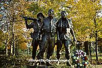 63395-01802 Statue of Vietnam Veterans near Vietnam Veterans Memorial  Wall Washington   DC