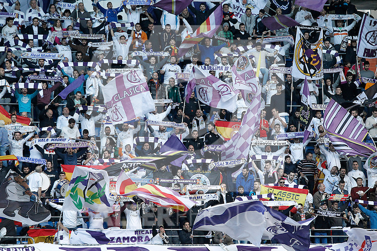 Real Madrid's supporters during La Liga match.January 31,2015. (ALTERPHOTOS/Acero)