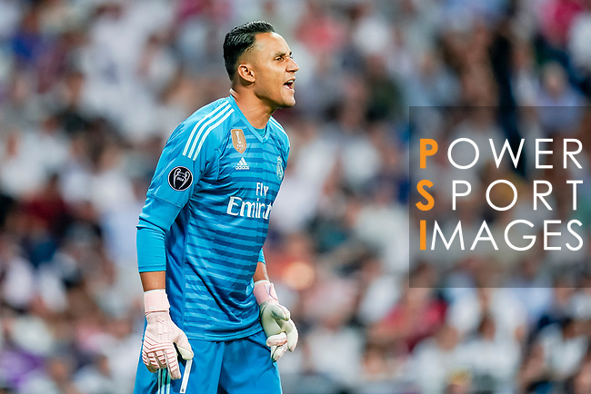 Goalkeeper Keylor Navas of Real Madrid reacts during the UEFA Champions League 2018-19 match between Real Madrid and Roma at Estadio Santiago Bernabeu on September 19 2018 in Madrid, Spain. Photo by Diego Souto / Power Sport Images