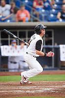 Quad Cities River Bandits right fielder Myles Straw (4) at bat during a game against the Bowling Green Hot Rods on July 24, 2016 at Modern Woodmen Park in Davenport, Iowa.  Quad Cities defeated Bowling Green 6-5.  (Mike Janes/Four Seam Images)