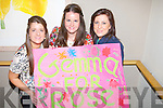 POSTER: Sarah Jeane O'neill, Triona Sheehy and Marian Lyne (Killarney) showing their support for Gemma Kavanagh (Killleen House Hotel, Rose) at the 2013 Kerry Rose Selection on Friday night in Ballyroe Heights Hotel, Tralee.