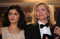 Audrey Tautou et la femme de Claude Miller - 65th Cannes Film Festival closing ceremony.May 27th, 2012.