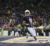 Myles Gaskin is all alone in the end zone after a ten yard scoring run.