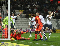 Preston North End's Andrew Hughes  sees his effort go past the post<br /> <br /> Photographer Mick Walker/CameraSport<br /> <br /> The EFL Sky Bet Championship -  Preston North End v Millwall - Saturday 15th December 2018 - Deepdale-Preston<br /> <br /> World Copyright &copy; 2018 CameraSport. All rights reserved. 43 Linden Ave. Countesthorpe. Leicester. England. LE8 5PG - Tel: +44 (0) 116 277 4147 - admin@camerasport.com - www.camerasport.com