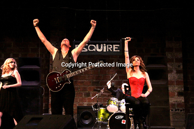"""Rock Story"" (rock n' roll mystery ensues and unleases band rise to national fame) - screen play by Guiding Light's Robert Bogue and Mandy Bruno and starring them and Suzi Lorraine. Rock Story which was shot almost all in Orange County has just finished filming in late January. It will be the feature film in the 2014 Hoboken International Film Festival on May 30 (with the festival continuing through June 5) at the Paramount Theatre in Middletown, New York. (Photo by Sue Coflin/Max Photos)"