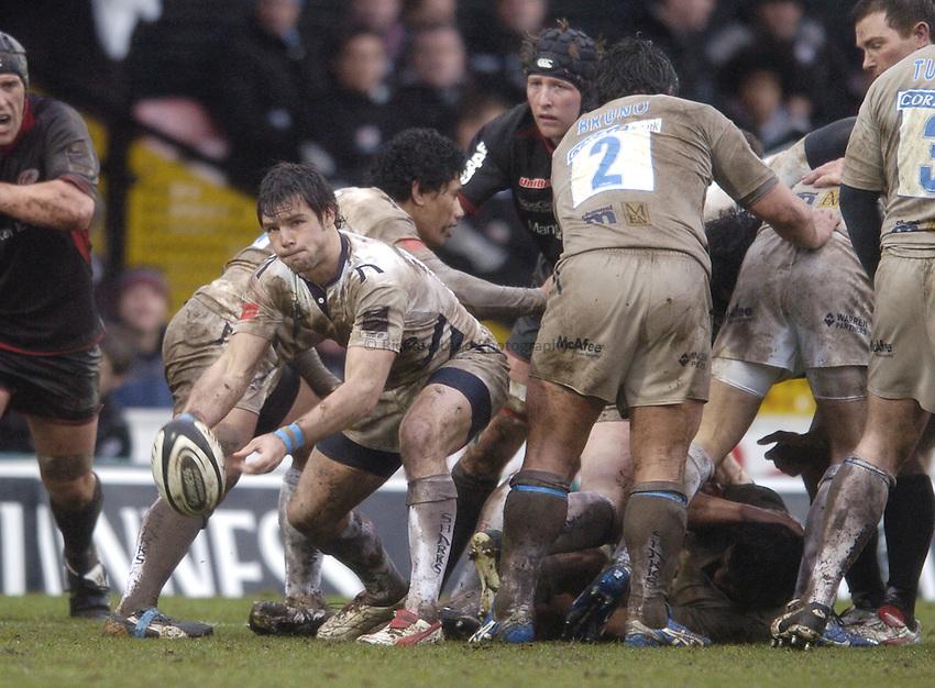 Photo: Jonathan Butler..Saracens v Sale Sharks. Guinness Premiership. 04/03/2007..Ben Foden of Sale.