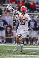 College Park, MD - February 25, 2017: Maryland Terrapins Ben Chisolm (39) passes the ball during game between Yale and Maryland at  Capital One Field at Maryland Stadium in College Park, MD.  (Photo by Elliott Brown/Media Images International)
