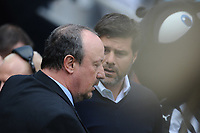 Newcastle United manager Rafa Benítez and Tottenham Hotspur manager Mauricio Pochettino embrace during Newcastle United vs Tottenham Hotspur, Premier League Football at St. James' Park on 13th August 2017