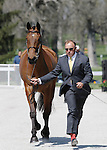 April 23, 2014: Park Trader and Bruce Davidson Jr. during the first horse inspection at the Rolex Three Day Event in Lexington, KY at the Kentucky Horse Park.  Candice Chavez/ESW/CSM