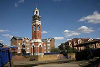Thamesmead town centre, southeast London, UK: the clocktower