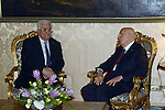 Palestinian President Mahmoud Abbas meets with Italian President Giorgio Napolitano at the Quirinale in Rome, June 09, 2014. Photo by Thaer Ganaim