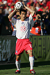11 February 2006: Korea's Cho Won-Hee. The Costa Rica Men's National Team defeated South Korea 1-0 at McAfee Coliseum in Oakland, California in an International Friendly soccer match.
