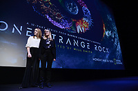 "NEW YORK CITY - MARCH 14: Molly Hill and Jane Root attend National Geographic's ""One Strange Rock"" screening and Q&A at Alice Tully Hall at Lincoln Center on March 14, 2018 in New York City. (Photo by Anthony Behar/NatGeo/PictureGroup)"