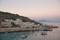 Sunset in Levanzo, one of Egadi islands in Sicily.Tramonto a Levanzo nelle isole Egadi in Sicilia.
