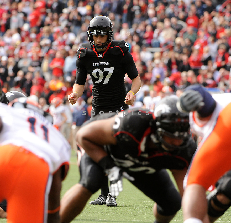 JACOB ROGERS, in action during the Cincinnati Bearcats game against the Syracuse Orangemen on October 30, 2010, at Nippert Stadium in Cincinnati, Ohio...Syracuse won 31-7..