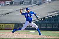 Kansas City Royals pitcher Julio Pinto (68) delivers a pitch to the plate during an Instructional League game against the Cincinnati Reds on October 2, 2017 at Surprise Stadium in Surprise, Arizona. (Zachary Lucy/Four Seam Images)