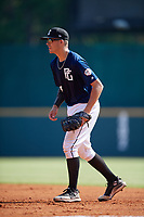 Jacob Cozart (18) of Wesleyan Christian Academy in High Point, NC during the Perfect Game National Showcase at Hoover Metropolitan Stadium on June 20, 2020 in Hoover, Alabama. (Mike Janes/Four Seam Images)