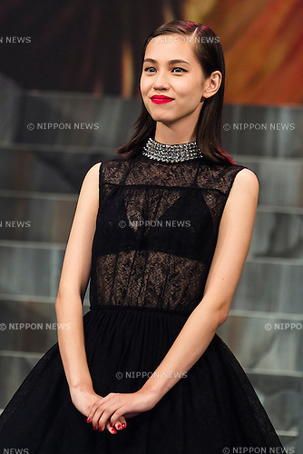 Actress Kiko Mizuhara attends the Japan premiere of the film ''Attack On Titan'' on July 21, 2015. The Japanese film is based on the manga series of the same name, written by Hajime Isayama. The film is divided into two parts; the first part will hit theaters across Japan on August 1st and the second part, entitled ''Attack on Titan: End of the World'', is scheduled for release on September 19, 2015. (Photo by Rodrigo Reyes Marin/AFLO)