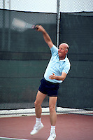 FREMONT, CA - Al Mangin plays tennis in 1983 in Fremont, California. (Photo by Brad Mangin)