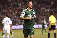 Jack Jewsbury (13) midfielder and captain of the Portland Timbers. The LA Galaxy defeated the Portland Timbers 3-0 at Home Depot Center stadium in Carson, California on  April  23, 2011....