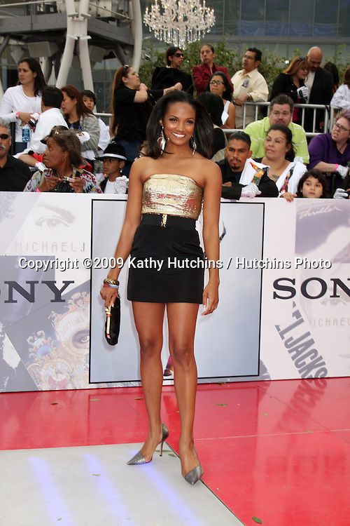 "Mekia Cox.arriving at the ""This is It"" Premiere.Nokia Theater at LA Live.Los Angeles,   CA.October 27, 2009.©2009 Kathy Hutchins / Hutchins Photo."