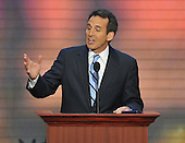 St. Paul, MN - September 4, 2008 -- Governor Tim Pawlenty of Minnesota speaks on day 4 of the 2008 Republican National Convention at the Xcel Energy Center in St. Paul, Minnesota on Thursday, September 4, 2008..Credit: Ron Sachs / CNP.(RESTRICTION: NO New York or New Jersey Newspapers or newspapers within a 75 mile radius of New York City)