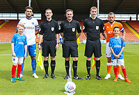 Players pose with match officials and mascots before the match<br /> <br /> Photographer Alex Dodd/CameraSport<br /> <br /> The EFL Sky Bet League One - Blackpool v Portsmouth - Saturday August 11th 2018 - Bloomfield Road - Blackpool<br /> <br /> World Copyright &copy; 2018 CameraSport. All rights reserved. 43 Linden Ave. Countesthorpe. Leicester. England. LE8 5PG - Tel: +44 (0) 116 277 4147 - admin@camerasport.com - www.camerasport.com