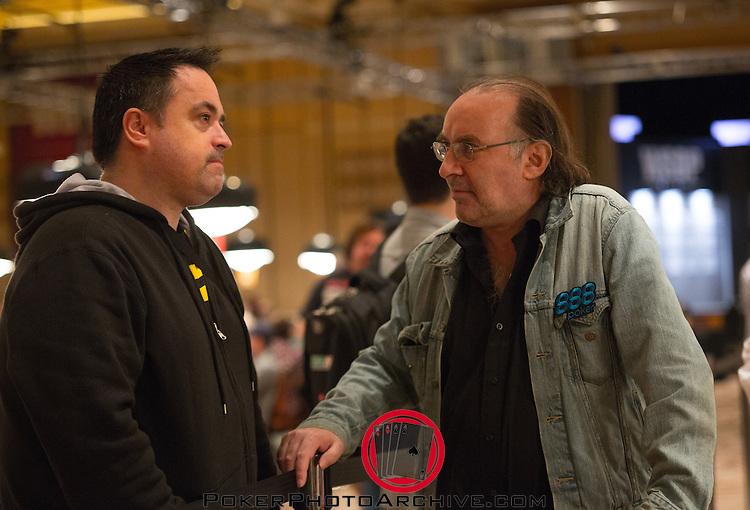 Padraig Parkinson chatting with fellow Irishman Tim Farrelly