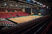 11-sept.-2013,Netherlands, Groningen,  Martini Plaza, Tennis, DavisCup Netherlands-Austria, Training,  Overall view <br /> Photo: Henk Koster