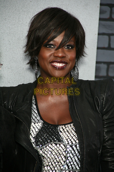 "VIOLA DAVIS.The New York Premiere of ""Harry Potter and the Deathly Hallows Part I"" held at Alice Tully Hall - Lincoln Center, New York, NY, USA..headshot portrait black jacket leather shoulder pads.CAP/LNC/TOM.©TOM/LNC/Capital Pictures."