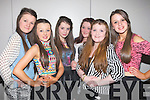 DISCO: Enjoying the Disco for teenagers on Friday night in the Earl of Desmond Hotel, Tralee, L-r: Chantell O'Sullivan, Zoe Riordan-Donnelly, Anna Morrison Hanna Lynchehan, Rachel Quirke and Tara O'Halloran.