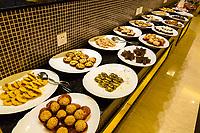 Yangshuo, China.  Hotel Buffet Breakfast Choices.