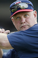 Minnesota Twins Manager Ron Gardenhire before a 2002 MLB season game against the Los Angeles Angels at Angel Stadium, in Anaheim, California. (Larry Goren/Four Seam Images)