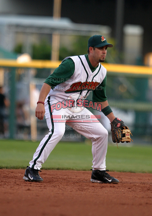 July 30, 2005:  Shortstop Ramon Vazquez of the Buffalo Bisons during a game at Dunn Tire Park in Buffalo, NY.  Buffalo is the International League Triple-A affiliate of the Cleveland Indians.  Photo by:  Mike Janes/Four Seam Images