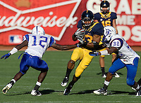 Covaughn DeBoskie-Johnson rushes the ball during the game against Presbyterian at AT&T Park in San Francisco on September 17th, 2011.  California defeated Presbyterian, 63-12.
