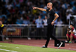 Manchester City Manager Pep Guardiola reacts during the match against Borussia Dortmund at the 2016 International Champions Cup China match at the Shenzhen Stadium on 28 July 2016 in Shenzhen, China. Photo by Victor Fraile / Power Sport Images
