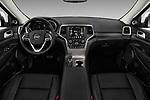 Stock photo of straight dashboard view of 2017 JEEP Grand-Cherokee Summit 5 Door SUV Dashboard