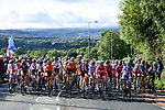 The peloton in action during the Women Elite Road Race of the UCI World Championships 2019 running 149.4km from Bradford to Harrogate, England. 28th September 2019.<br /> Picture: Pauline Ballet/SWpix.com | Cyclefile<br /> <br /> All photos usage must carry mandatory copyright credit (© Cyclefile | Pauline Ballet/SWpix.com)