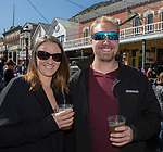 Tiffany and Brenton during the World Championship Outhouse Races in Virginia City, Nevada on Sunday, Oct. 8, 2017.
