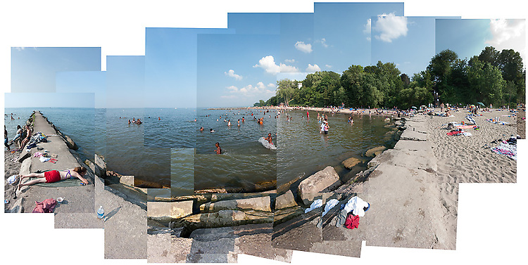 A view of the beach at the Huntington Reservation of the MetroParks in Bay Village, OH.