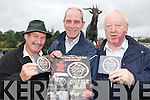 Songwriter Gerard Baynham centre whose new song about Puck Fair titled 'Acting the Goat' has been released on CD sung by Edso Crowley (right) and will be performed at the closing ceremony at this years Puck Fair, when Goat Catcher Frank Joy left will return King Puck to the mountain's ....