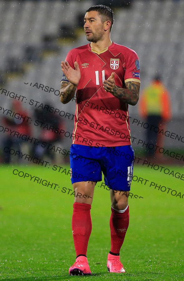 Fudbal, kvalifikacije za UEFA EURO 2016 qualifiers-Qualifying round - Group I<br /> Srbija v Portugal<br /> Aleksandar Kolarov<br /> Beograd, 11.10.2015.<br /> foto: Srdjan Stevanovic/Starsportphoto &copy;