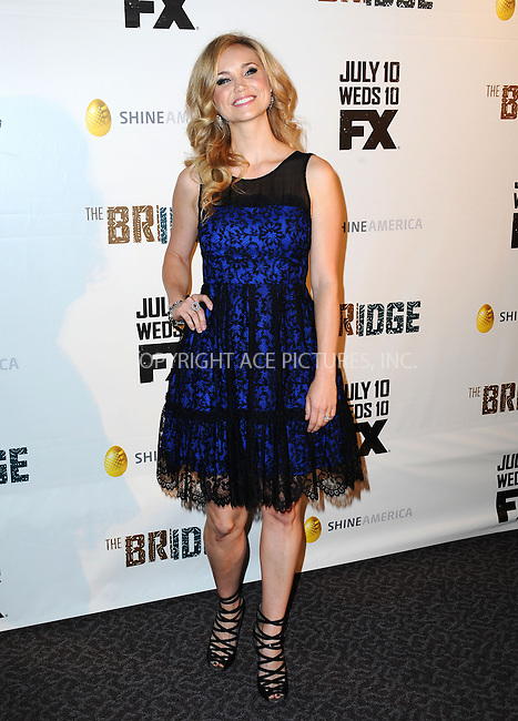 WWW.ACEPIXS.COM<br /> <br /> July 8 2013, LA<br /> <br /> Fiona Gubelmann arriving at the series premiere of FX's 'The Bridge' at DGA Theater on July 8, 2013 in Los Angeles, California. <br /> <br /> By Line: Peter West/ACE Pictures<br /> <br /> <br /> ACE Pictures, Inc.<br /> tel: 646 769 0430<br /> Email: info@acepixs.com<br /> www.acepixs.com