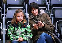 BBC Wales news reader Lucy Owen Swansea supporter during the Premier League match between Swansea City and Newcastle United at The Liberty Stadium, Swansea, Wales, UK. Sunday 10 September 2017