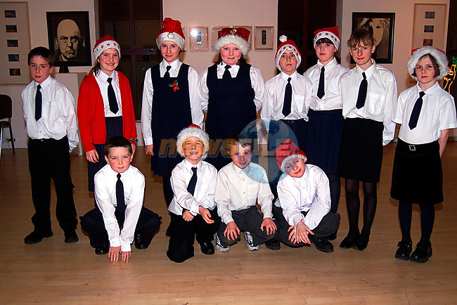 Junior Members of the Lourdes Brass Band at the bands Christmas Concent in the Arts  Centre..Pic Tony Campbell/Newsfile