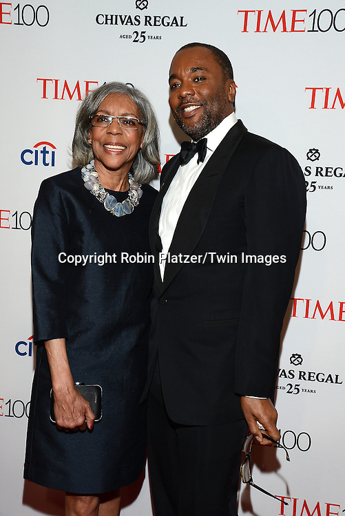 Lee Daniels and his mother Clara Watson attend the TIME 100 Issue celebrating the 100 Most Influential People in the World on April 21, 2015 <br /> at Frederick P Rose Hall at Lincoln Center in New York City, New York, USA.<br /> <br /> photo by Robin Platzer/Twin Images<br />  <br /> phone number 212-935-0770