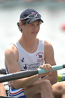Beijing, CHINA, GBR JM4-, Keiren EMERY, during the  2007. FISA Junior World Rowing Championships Shunyi Water Sports Complex. Wed. 08.08.2007  [Photo, Peter Spurrier/Intersport-images]..... , Rowing Course, Shun Yi Water Complex, Beijing, CHINA,