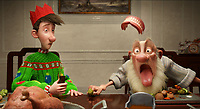 Arthur Christmas (2011)<br /> Arthur (voiced by James McAvoy ) and Grandsanta (voiced by Bill Nighy)<br /> *Filmstill - Editorial Use Only*<br /> CAP/KFS<br /> Image supplied by Capital Pictures