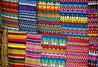 Colorful Guatemalan textiles, Market Day, Chichicastenango, Western Highlands, Guatemala